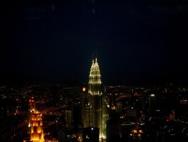 KL at night by aashiks