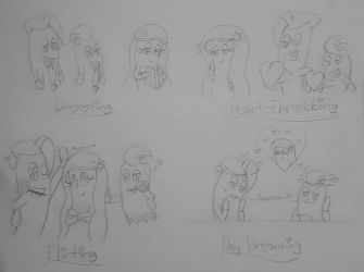 Lovey Dovey Ghost Doodles #1  by SweetiePie17