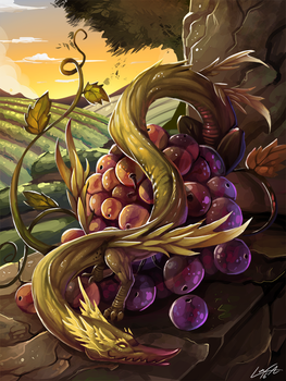 Grape Dragon by Lanasy