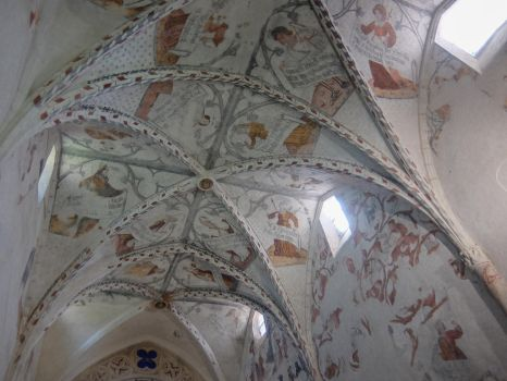 Ariege 037 - St Lizier Painted Ceiling by HermitCrabStock