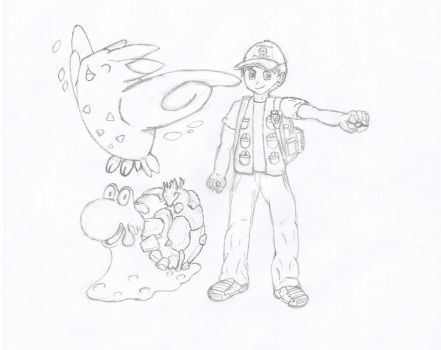 My Pokemon Character - First Draft by MagcargoMan