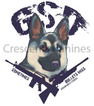 German Shepherd Dogs. Because sometimes, guns miss by RavynCrescent