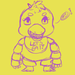 Chica Cheeb Sketch by Kylleo
