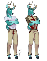Design: Teal Deer by INKTigerArt