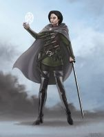 Character Art - Iron Blades - Levyria by FilKearney