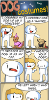 Dog Costumes by theodd1soutcomic