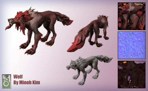 Wolf Model and Sculpt by MinohKim