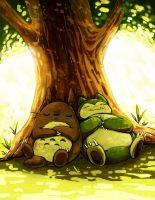 totoro and snorlax