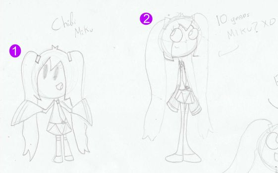 .:Miku's  sketches:. by JuLyGoOd