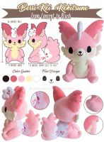 TPS: Berri-Kei Cake Fox Plush by MoogleGurl