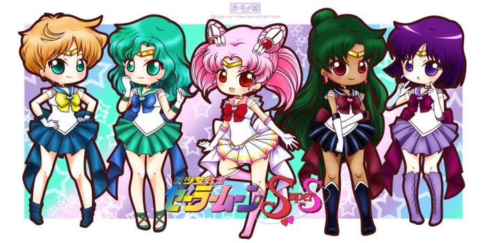 Sailor Moon Super S - Outer Senshi by Akage-no-Hime