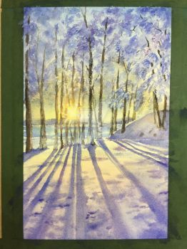 forest in snow by KarenDuan