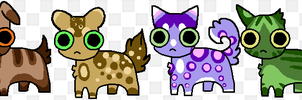 Mixed adopts set #1 - OPEN (5 to 10 points) by SwarThylacine-Adopts