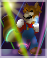 Mario Dancing in a Party by BaconBloodFire