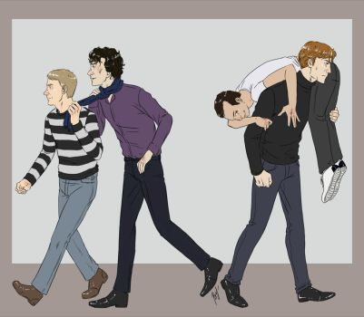 johnlock vs mormor by Fishik