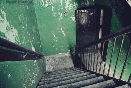 Down the stairs, and through the door. by Johnny23xx
