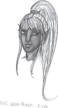 Evil Drow Queen by neeses
