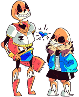 Undertale: Papyrus And Sans Much. by afroclown