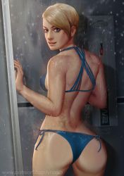 Cora in shower by ynorka