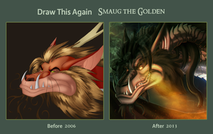 Draw It Again Smaug the Golden by Ghostwalker2061