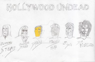 Hollywood Undead Day of the Dead Masks version 2 by UnicronHound