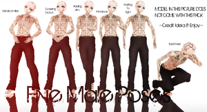 Five Male Poses Pack ~DL on Right~ by Idera