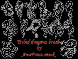 Tribal dragons brush by AnnFrost-stock