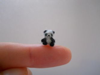 Ooak miniature micro jointed teddy bear panda by tweebears