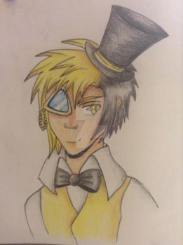 Bill Cipher Human by V-D-C