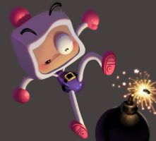 One face a day #89/365. Bomberman by Dylean