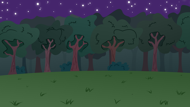 MLP BG-Forest At Night by EROCKERTORRES