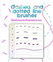 Dashed and Dotted Line Brushes by blacknovART