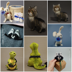 Needle Felted Toys by YuliaLeonovich
