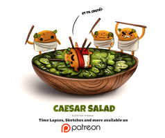 Day 1391. Caesar Salad by Cryptid-Creations