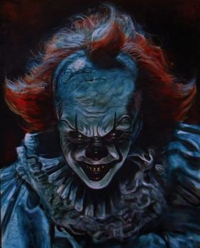 STEPHEN KING'S IT PENNYWISE THE CLOWN A2 by Legrande62