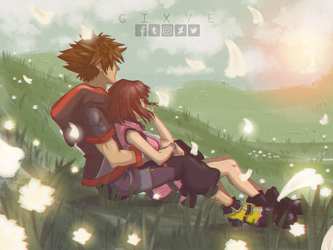 Sora_Kairi_Kingdom Hearts 3 by Gixye
