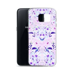 'Hyper Garden' White/Purple Floral Case by Zala02Creations