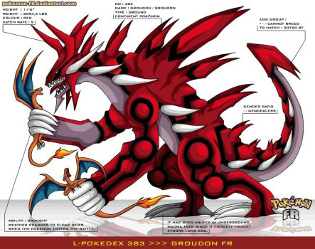 L'Pokedex 383 - Groudon FR by Pokemon-FR