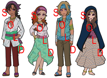 Naruto Fan Tribe Adoptables Zentei - SOLD OUT by mistressmaxwell