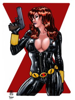 Black Widow_Colored. by Troianocomics