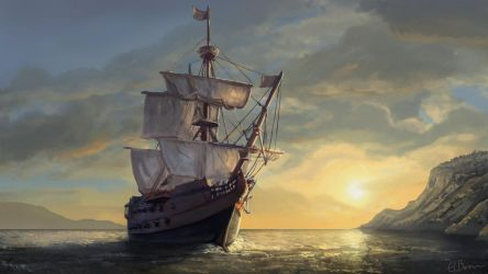 Pirate Ship Concept by eddieshred