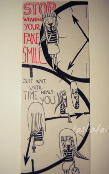 stop wearing your fake smile by tashafai