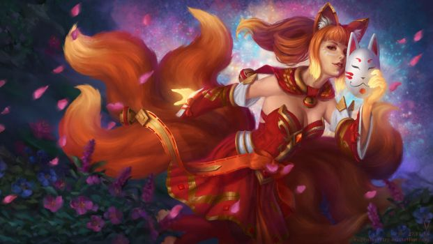 Lina fire fox dota 2 by vertry
