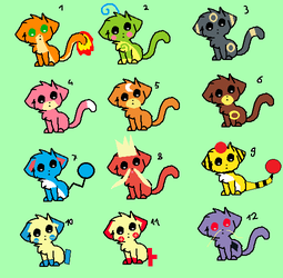 Poke-cats adoptables (12/12 OPEN) by FlameNelson