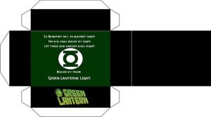 Green lantern ring stand by paperart