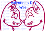 {Open!} Valentine's Day YCH (Points+PayPal) by P4per-Cranes