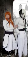 Orihime and Ulquiorra Bleach cosplay by SailorMappy