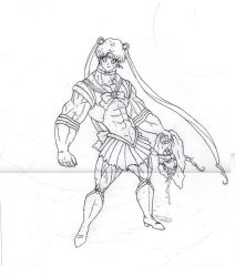 Sailor Moon redesign sketch final clean by Binrod
