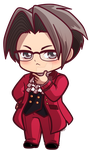 Miles Edgeworth_ Ace Attorney Chibi Charm