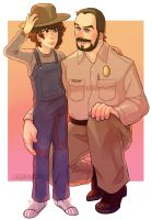 Eleven And Hopper by Lagunanegra